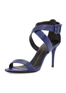 Buckled Leather Crisscross Sandal   Buckled Leather Crisscross Sandal