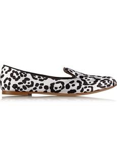 Giuseppe Zanotti Balet leopard-print satin loafers