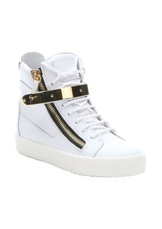 Giuseppe Zanotti bianco leather 'May London' high top sneakers