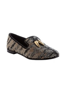 Giuseppe Zanotti black and brown swarovski studded moccasins