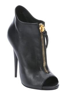 Giuseppe Zanotti black leather 'Alien' stiletto ankle boots