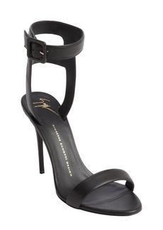 Giuseppe Zanotti black leather ankle strap sandals