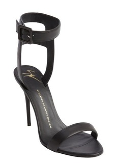 Giuseppe Zanotti black leather ankle strap sandals