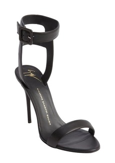 Giuseppe Zanotti black leather anklestrap heel sandals