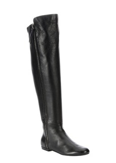 Giuseppe Zanotti black leather 'Balet' side zip over-the-knee boots