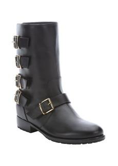 Giuseppe Zanotti black leather buckled biker boots