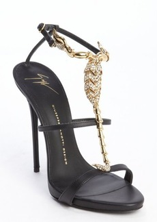 Giuseppe Zanotti black leather scorpion 'Coline' sandals