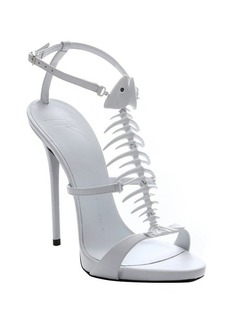 Giuseppe Zanotti black leather skeletal fish sandals