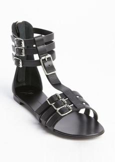 Giuseppe Zanotti black leather strappy rear zip sandals