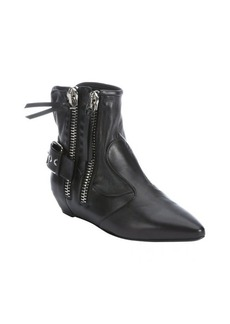 Giuseppe Zanotti black leather zip detail ankle boots
