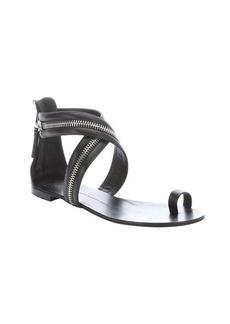 Giuseppe Zanotti black leather zip detailed sandals