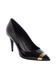 Giuseppe Zanotti black patent leather 'Ester 80' band detail pumps