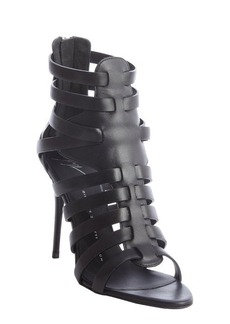 Giuseppe Zanotti black strappy leather 'Gladiator' pumps