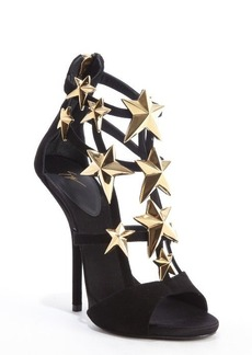 Giuseppe Zanotti black suede star studded 'Aliek' platform sandals
