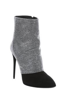 Giuseppe Zanotti black suede stud embellished booties