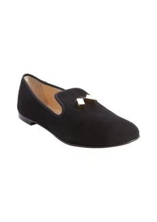 Giuseppe Zanotti black suede tassel detail loafer flats