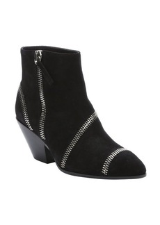 Giuseppe Zanotti black suede zip detailed ankle boots
