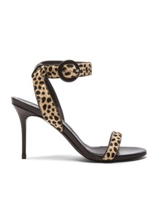Giuseppe Zanotti Calf Hair Ankle Strap Heels