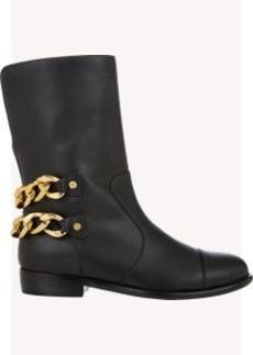 Giuseppe Zanotti Chain-Embellished Moto Boots