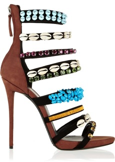 Giuseppe Zanotti Coline embellished suede sandals