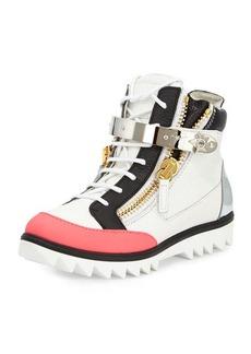 Giuseppe Zanotti Colorblock Leather High-Top Sneaker