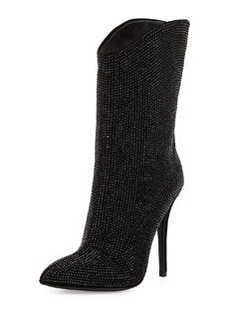 Giuseppe Zanotti Crystal-Embellished High-Heel Bootie, Black