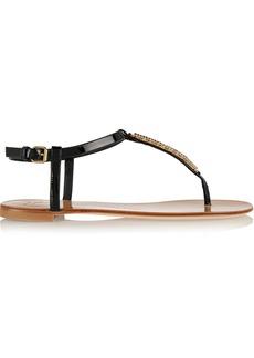 Giuseppe Zanotti Crystal-embellished patent-leather sandal