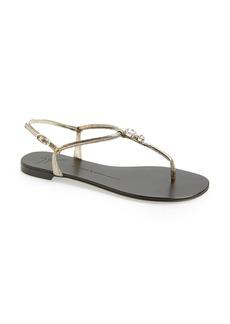Giuseppe Zanotti Crystal Embellished T-Strap Sandal