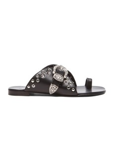 """Giuseppe Zanotti <div class=""""product_name"""">Buckled Leather Sandals</div>"""