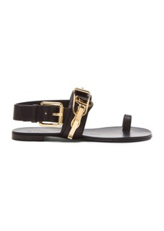 """Giuseppe Zanotti <div class=""""product_name"""">Embellished Leather Sandals</div>"""