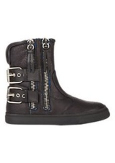 Giuseppe Zanotti Double Zip & Buckle Ankle Boots