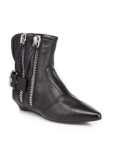 Giuseppe Zanotti Double-Zipper Leather Ankle Boots