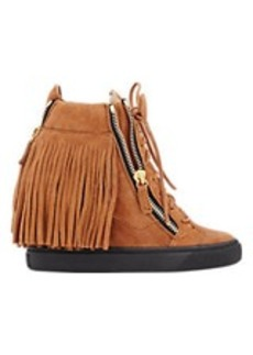 Giuseppe Zanotti Fringed Double-Zip Wedge Sneakers