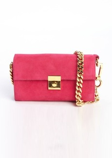Giuseppe Zanotti fuchsia pink suede braided chain mini shoulder bag
