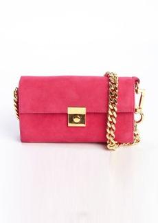 Giuseppe Zanotti fuchsia pink suede braided chain mini shoulder bag
