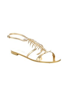 Giuseppe Zanotti gold metallic leather '20th Anniversary' fish bone ...