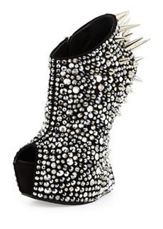 Giuseppe Zanotti Heel-Less Studded Pump, Black