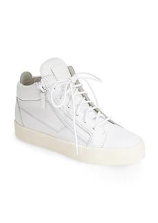 Giuseppe Zanotti High Top Leather Sneaker (Women)
