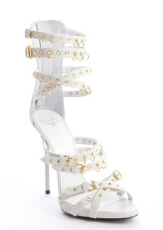 Giuseppe Zanotti jeti off white leather strappy grommet platform sandals