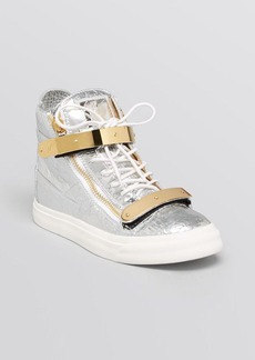 Giuseppe Zanotti Lace Up High Top Sneakers - London May