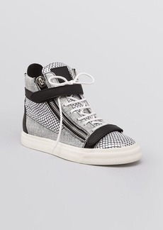 Giuseppe Zanotti Lace Up High Top Sneakers - London Retiver