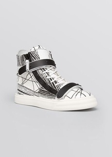 Giuseppe Zanotti Lace Up High Top Sneakers - London Scribble