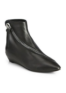Giuseppe Zanotti Leather Asymmetrical-Zip Ankle Boots