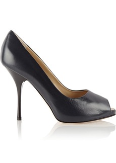 Giuseppe Zanotti Leather peep-toe pumps