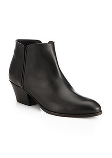 Giuseppe Zanotti Leather Stacked-Heel Ankle Boots