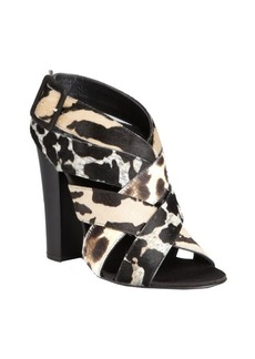 Giuseppe Zanotti leopard pony hair 'Alien' crisscross sandals