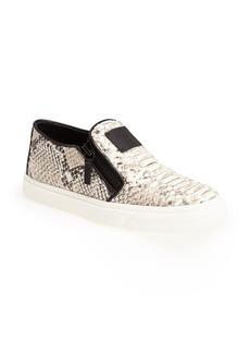 Giuseppe Zanotti 'London' Snake Embossed Slip-On Sneaker (Women)