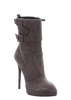 Giuseppe Zanotti malta suede 'Emy' buckle detail mid-ankle stiletto boots