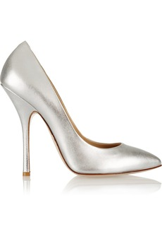 Giuseppe Zanotti Metallic leather pumps