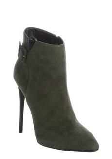 Giuseppe Zanotti militare suede buckle detail stiletto ankle booties
